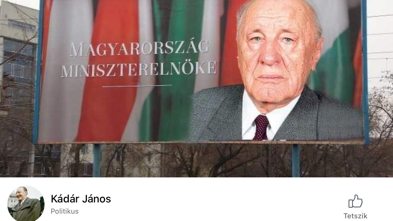 forrás: Kádár János oldal Facebook